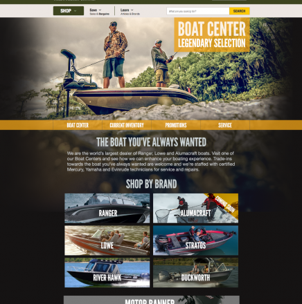 Boat Center Microsite
